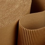 Roll of wavy corrugated